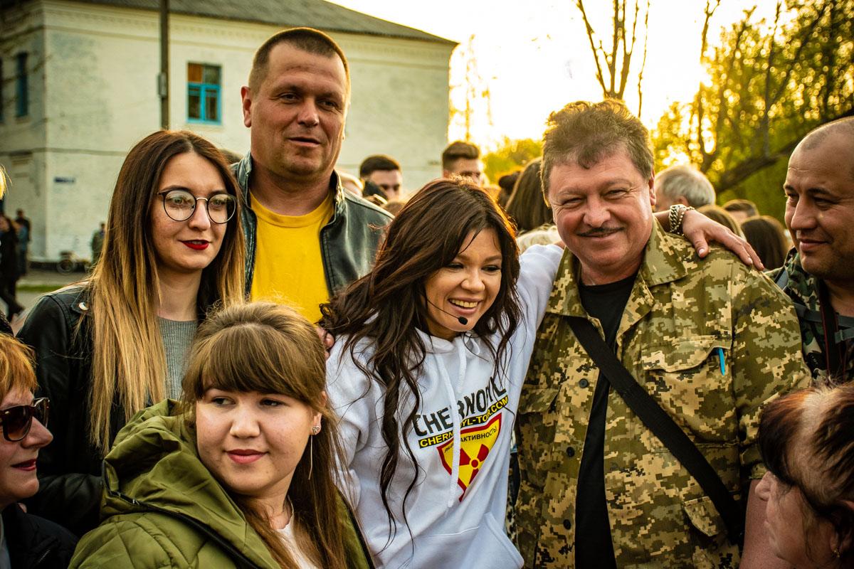 Перформанс привлек внимание местных, которые продолжают жить и работать в Чернобыле