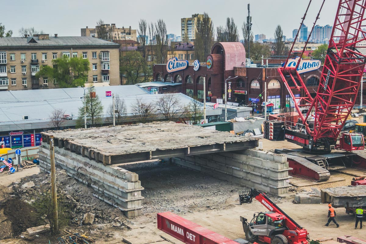 Шулявский мост старого образца уходит в историю