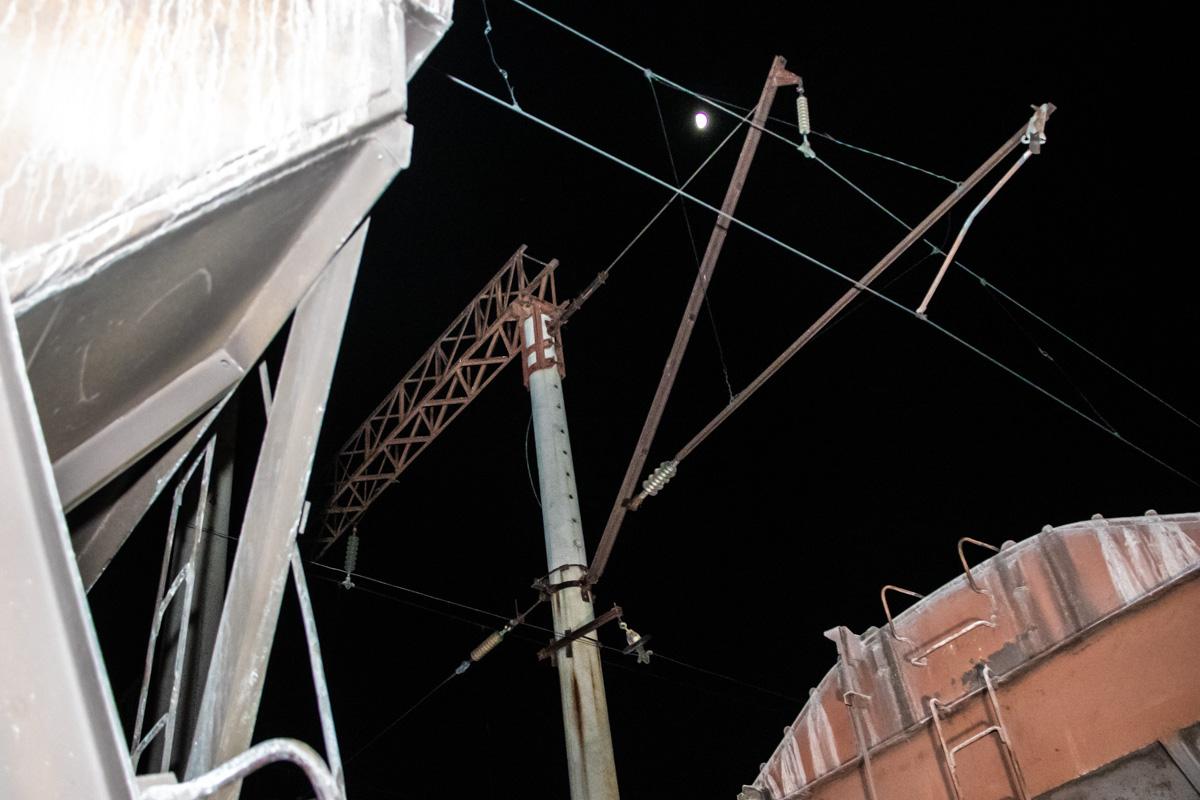 Пострадавший получил мощный разряд тока от контактной сети