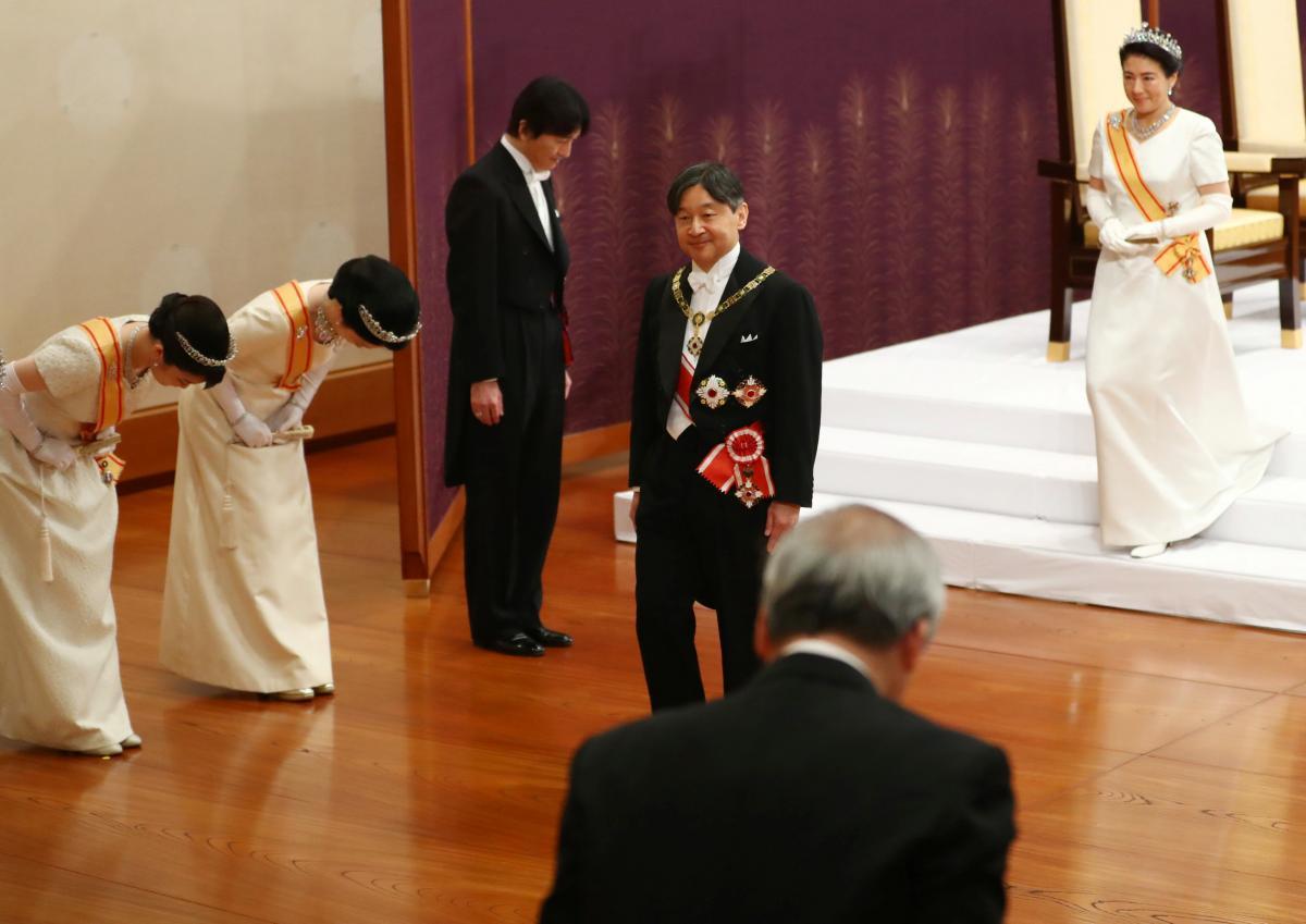 Император Нарухито во время церемонии, фото REUTERS