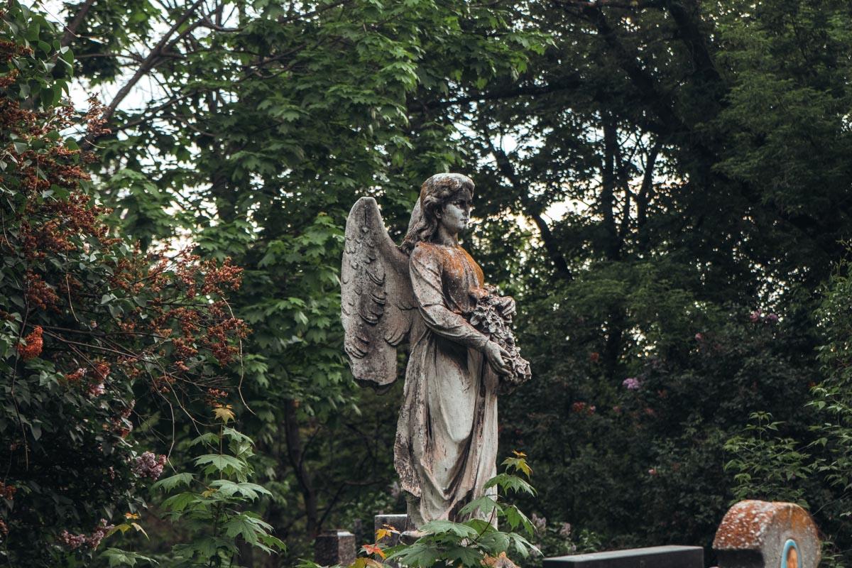 """Символом """"разности"""" может служить этот ангел - невероятно светлый, невзирая на явное запустение"""