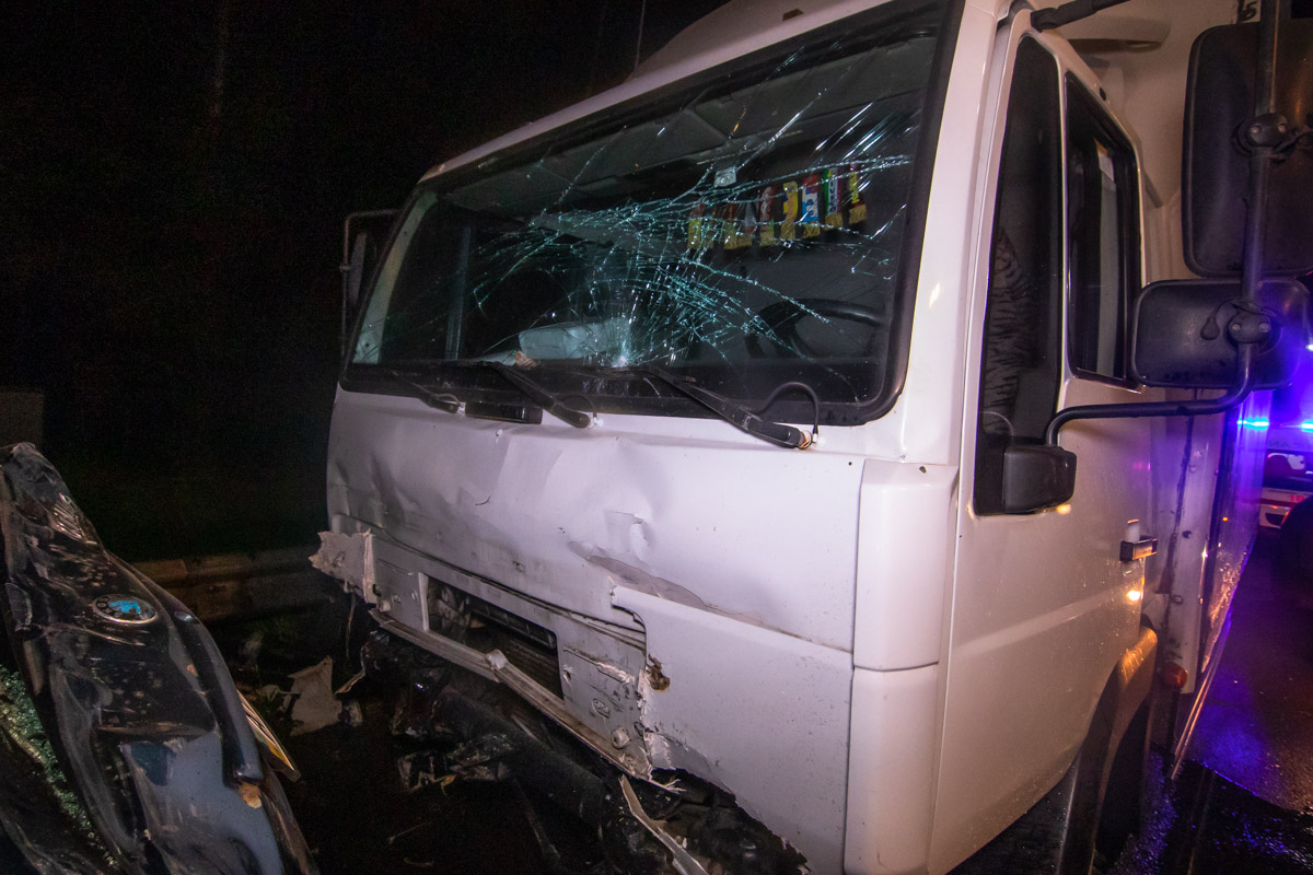 Водитель грузовика утверждает, что увидел машину в самый последний момент