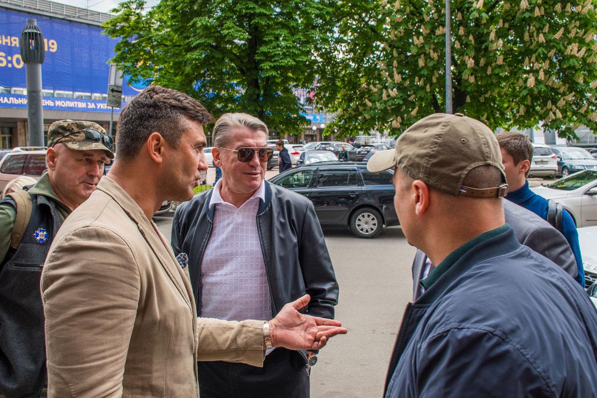 Обладатель звезды и Золотого мяча Олег Блохин вместе с Николаем Тищенко