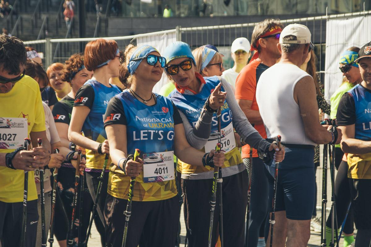 Нововведением наKyiv Euro Marathon 2019 стала скандинавская ходьба на шесть километров