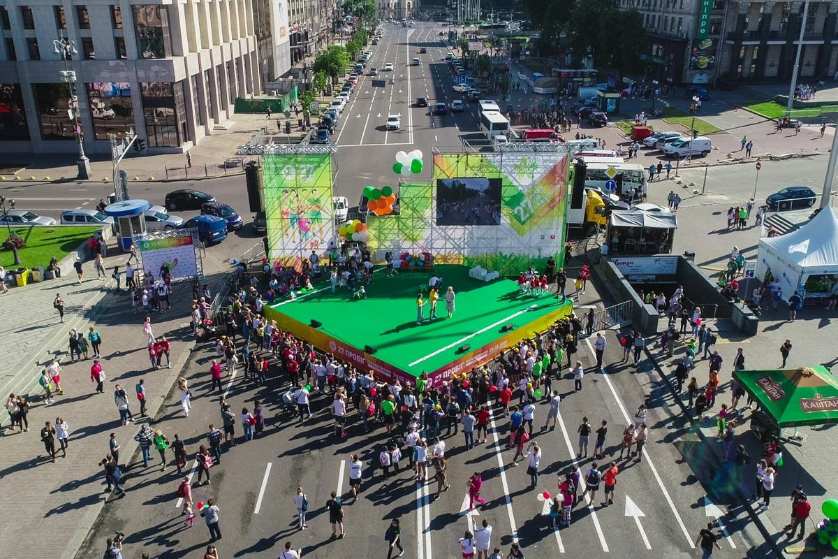 В качестве центральной локации в этот раз выступила центральная площадь страны - Майдан Независимости