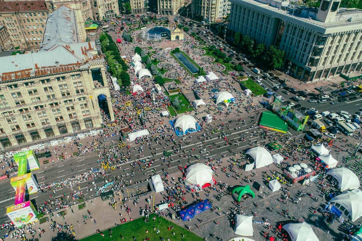 В это воскресенье на Майдане Независимости было очень людно