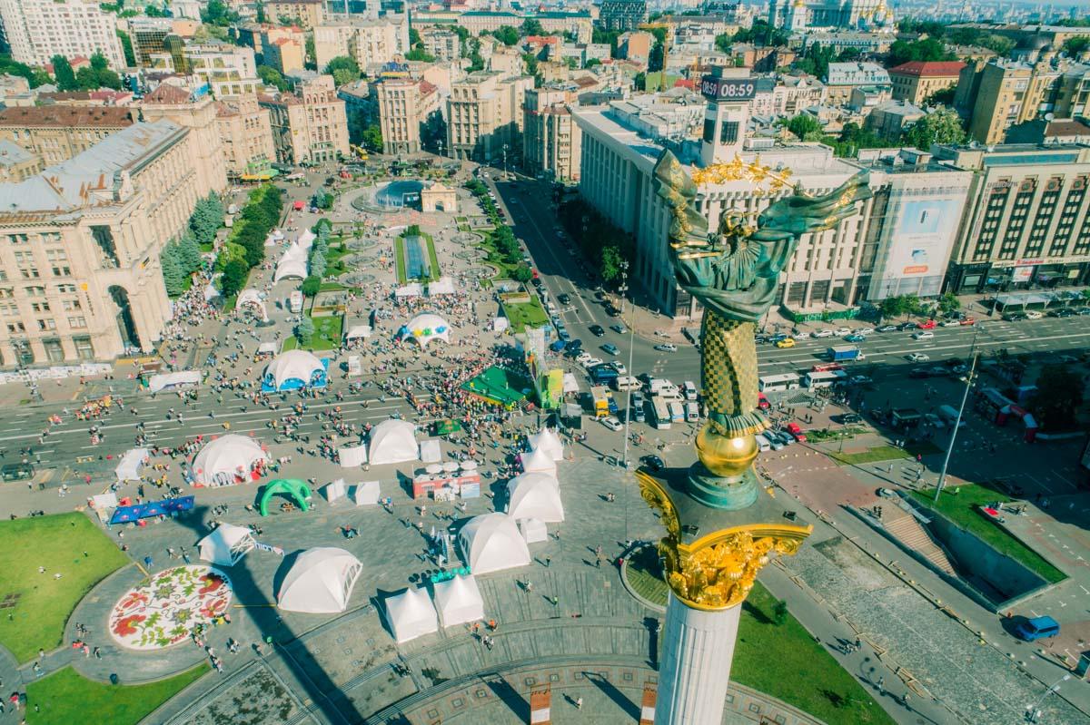 Отличный вид на Майдан в День Киева