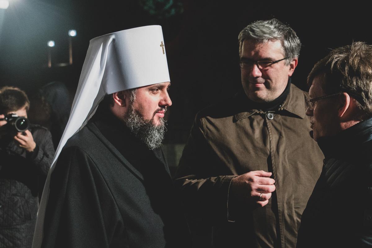 В акции принял участие предстоятель православной церкви Украины Епифаний