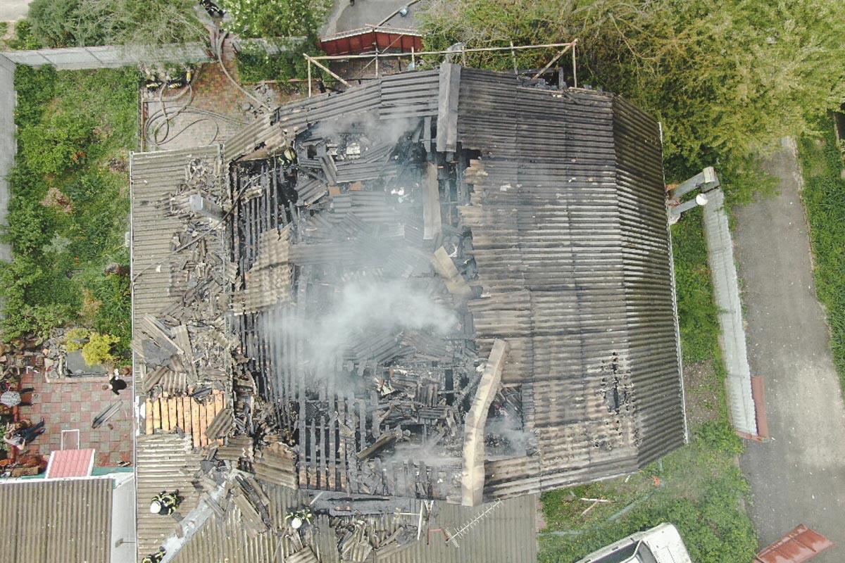Перед началом пожара местные жители слышали хлопок