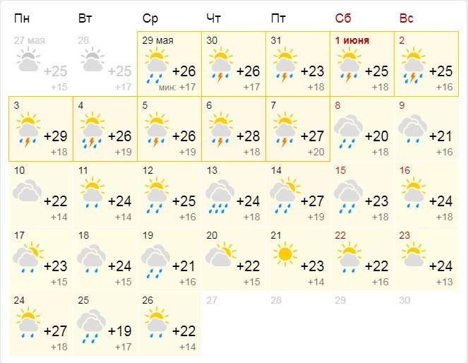 Дождливый прогноз на июнь от Gismeteo