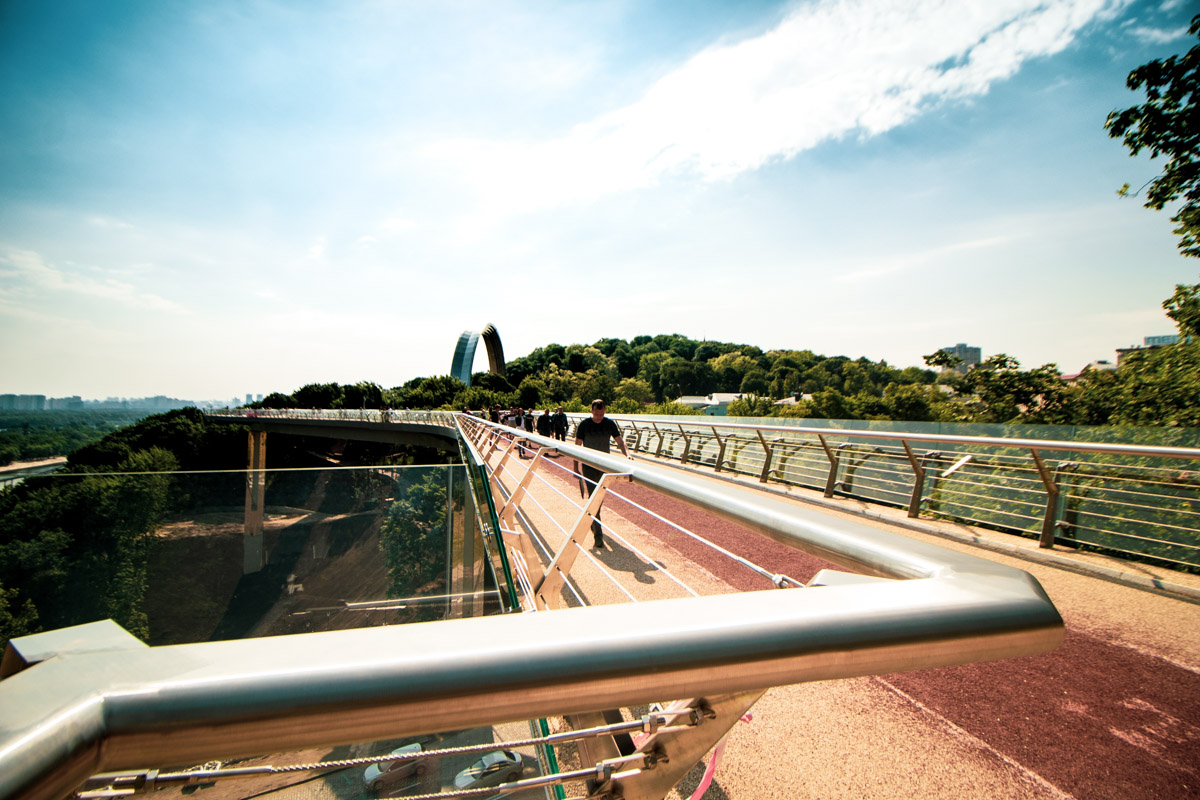 Вид на мост с Владимирской горки