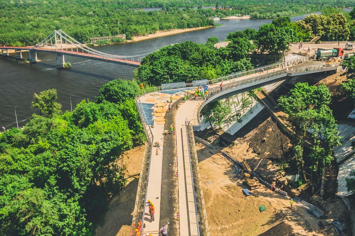 С этого моста будут открываться прекрасные виды на Киев