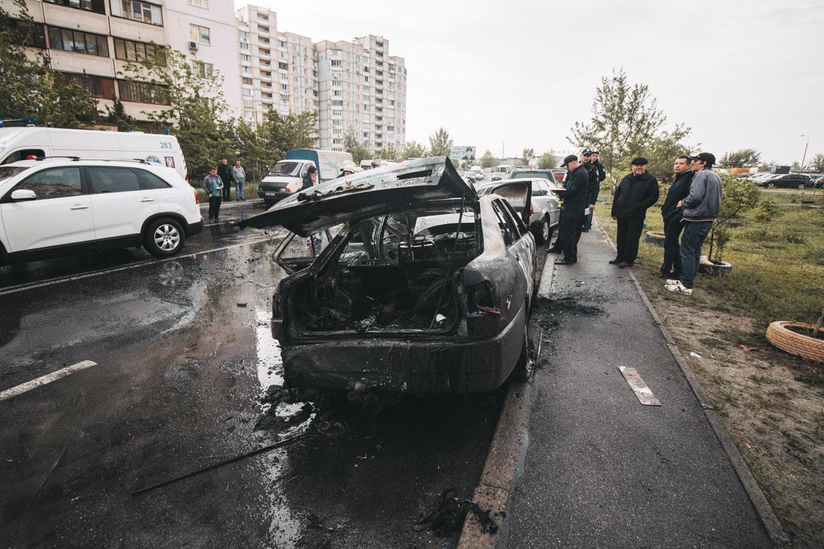 В Киеве на улице Ларисы Руденко произошло ДТП