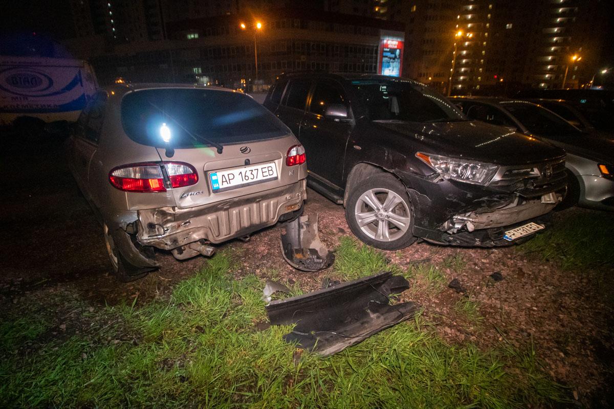 Автомобили получили повреждения различной тяжести