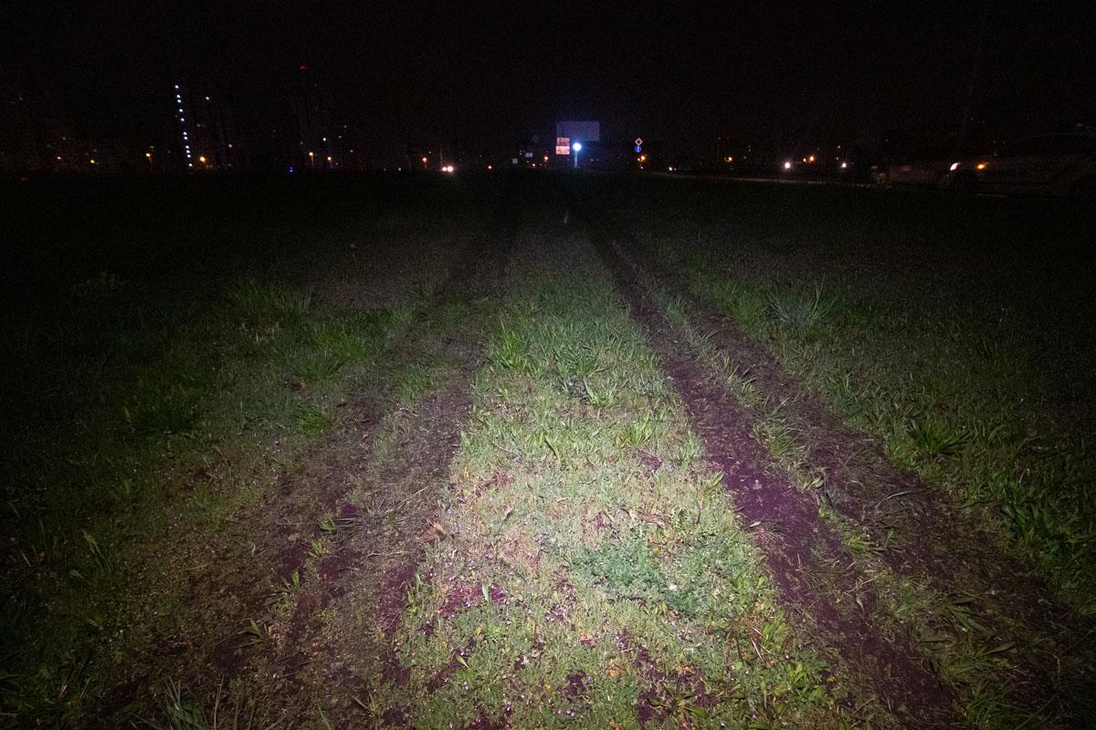 На проспекте Григоренко Mercedes вылетел на зеленую зону и протаранил забор автостоянки