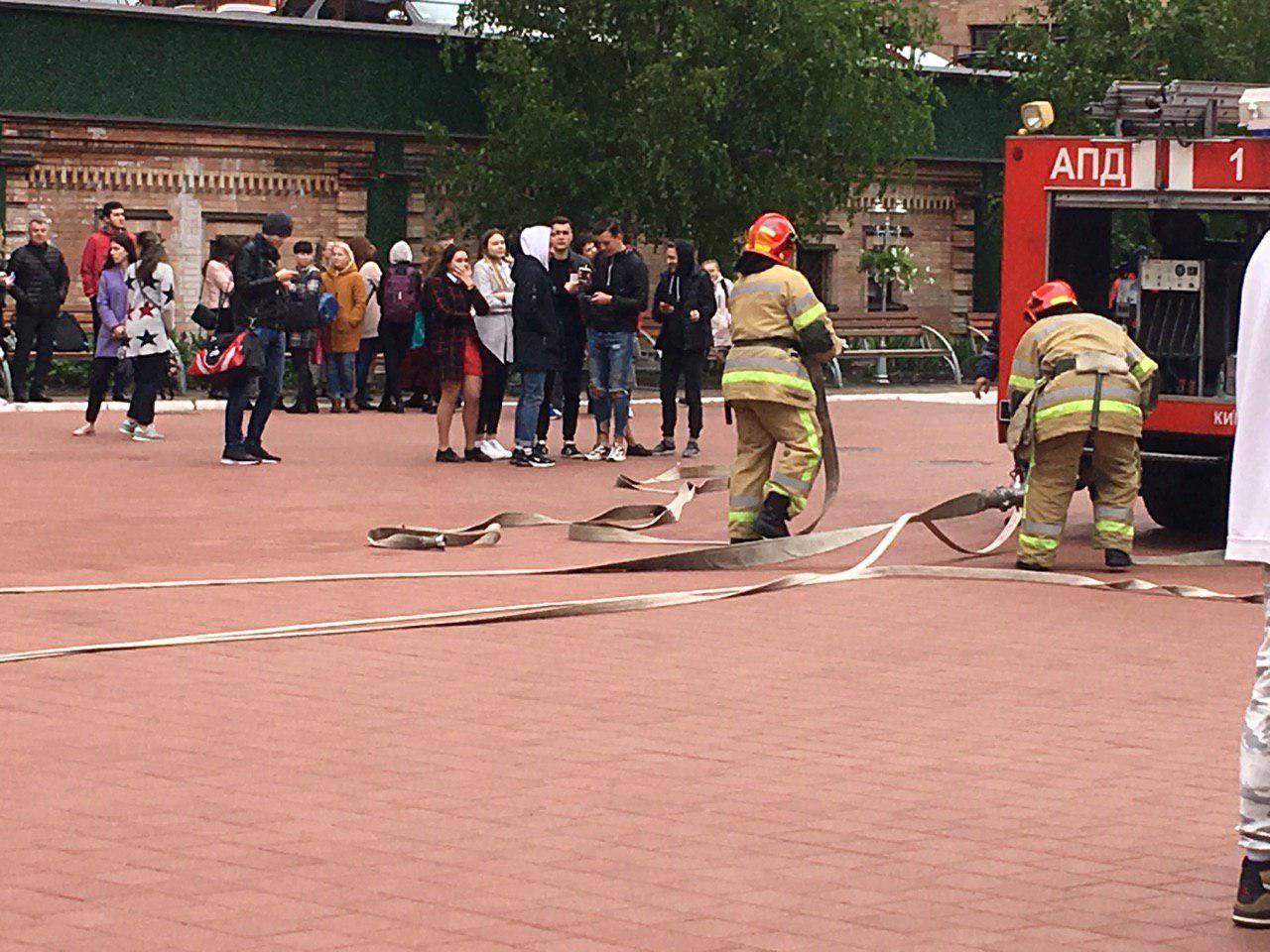 В среду, 8 мая, в Киеве по адресу улица Евгения Коновальца, 36 произошел пожар