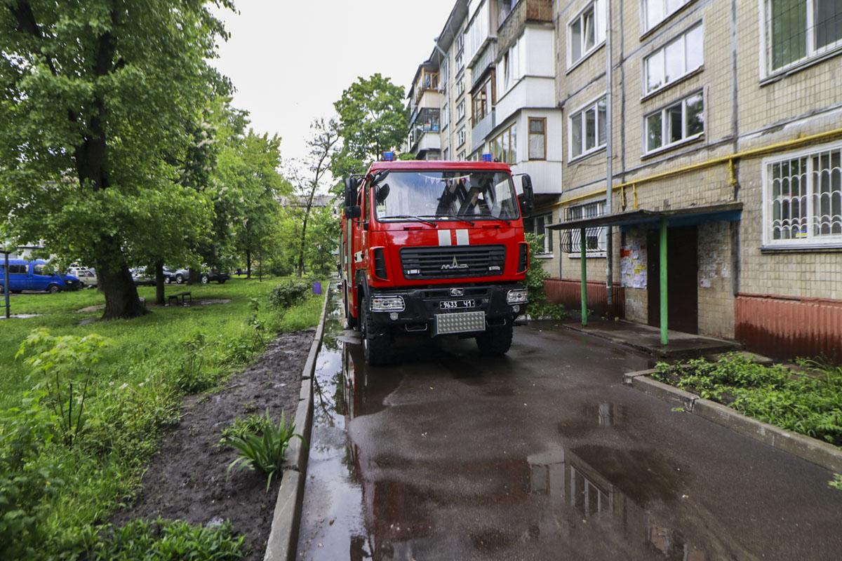 12 мая в Киеве по адресу улица Петра Запорожца, 16 произошел пожар