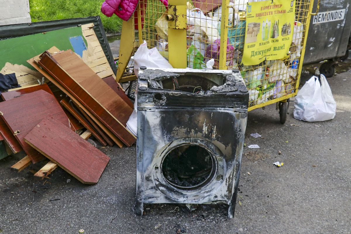Во время разведки удалось установить, что загорелась стиральная машинка