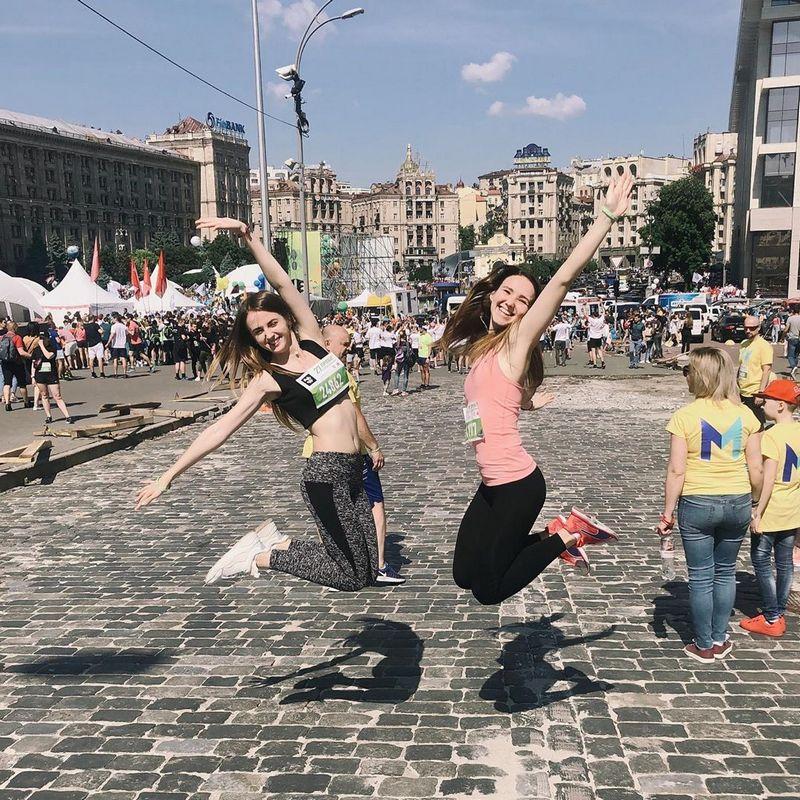 Пробег показал, что в столице много спортивной молодежи. Фото: @natalia_momotiuk