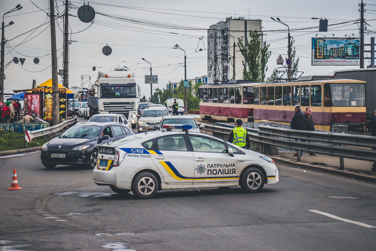 Правоохранители перекрыли часть дороги на время ликвидации последствий аварии