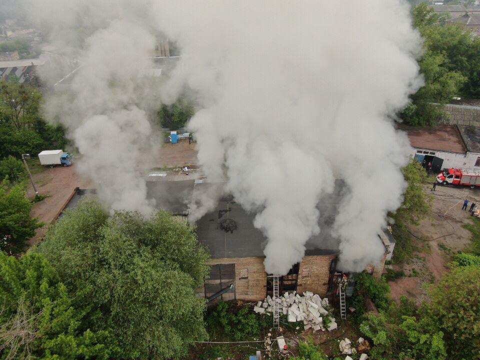 Площадь пожара составила около 250 метров квадратных