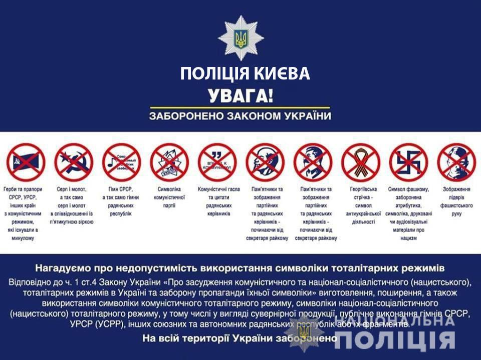 Правоохранители напомнили об ответственности за использование запрещенной символики