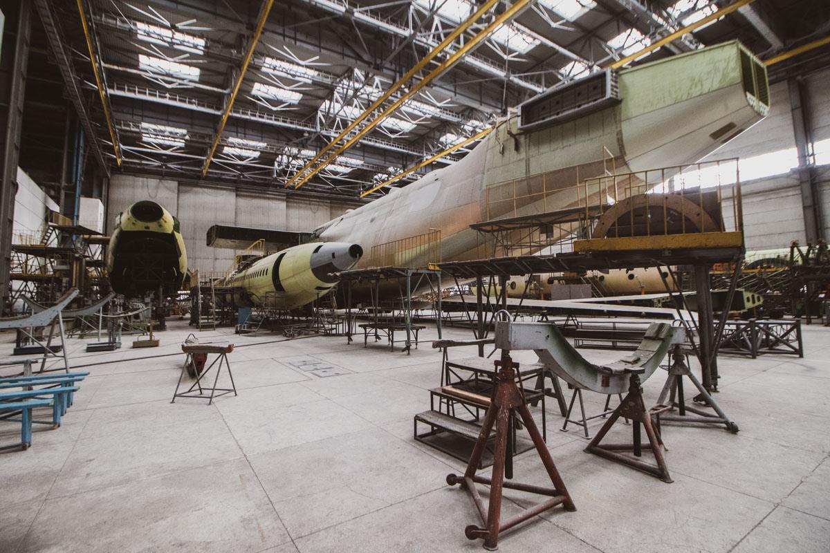 """Фюзеляж самого большого самолета в мире Ан-225 """"Мрия-2"""""""