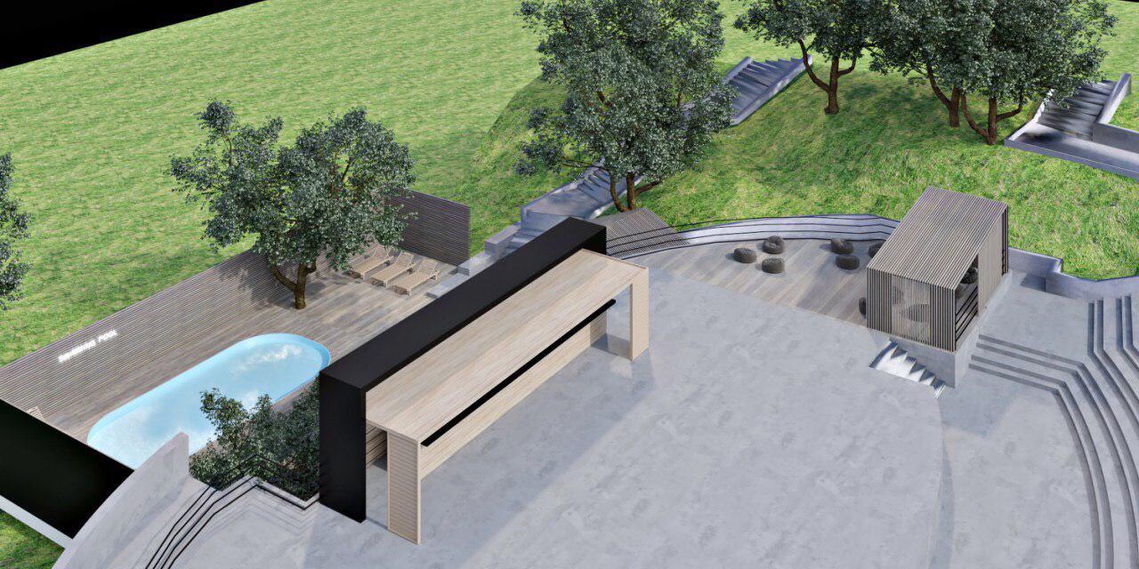 Зона амфитеатра сможет разместить 1500-2000 человек, а в формате фан-зоны - 3000