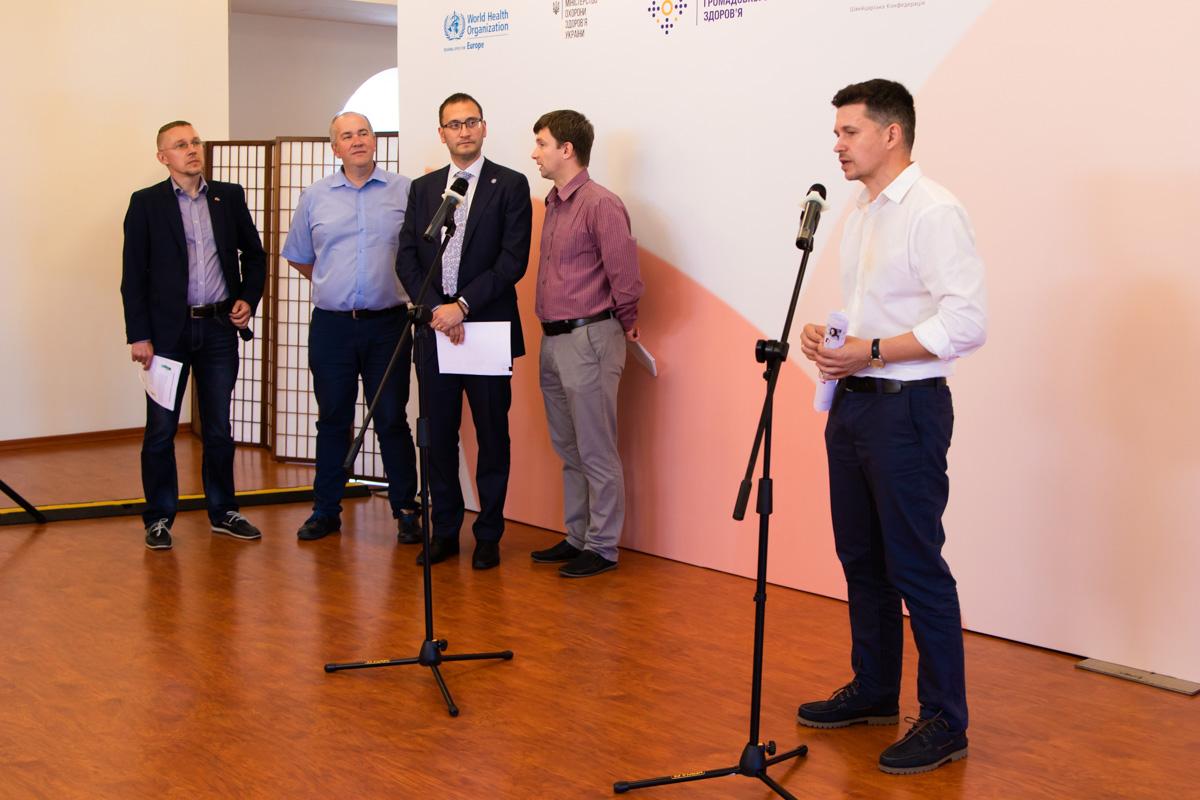 19 июня в центре Киева прошел пресс-брифинг с участием представителей МЗУ и ВООЗ