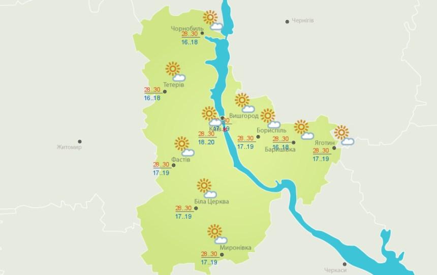 Июнь продолжает испытывать жителей Киева высокой температурой