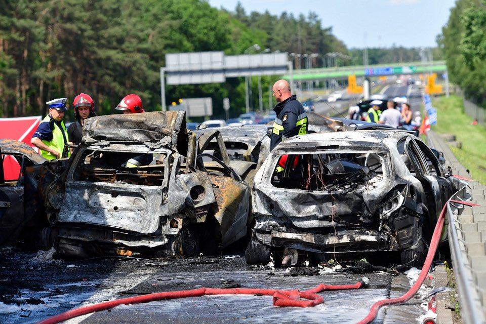 На северо-западе Польши на автомагистрали A6 столкнулось семь автомобилей
