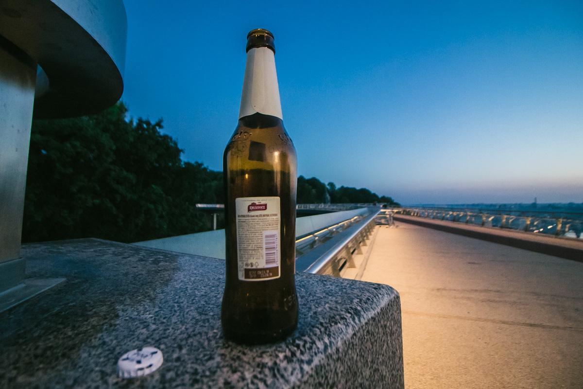 У бутылки пива тоже должно быть с нового моста
