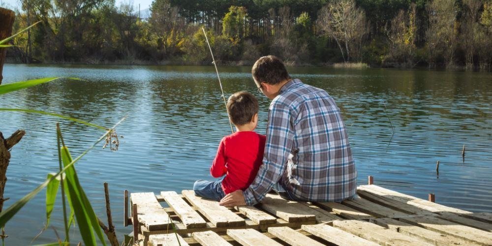 """Кажется, слова """"папа"""" и """"рыбалка"""" - почти синонимы)"""