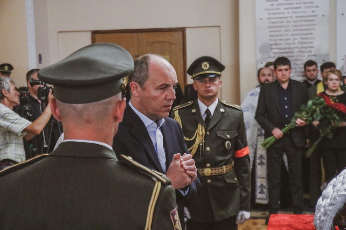Председатель ВР Андрей Парубий посетил церемонию