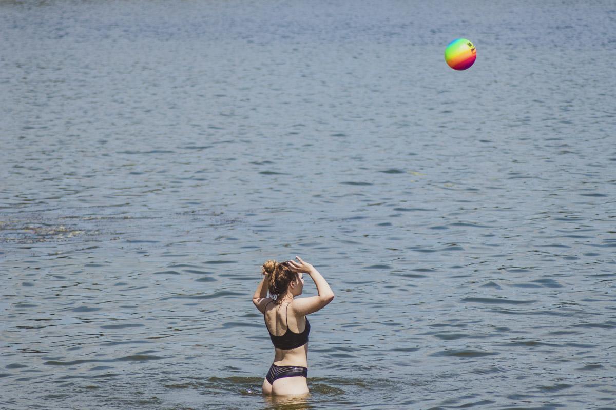 Водные игры с мячиками