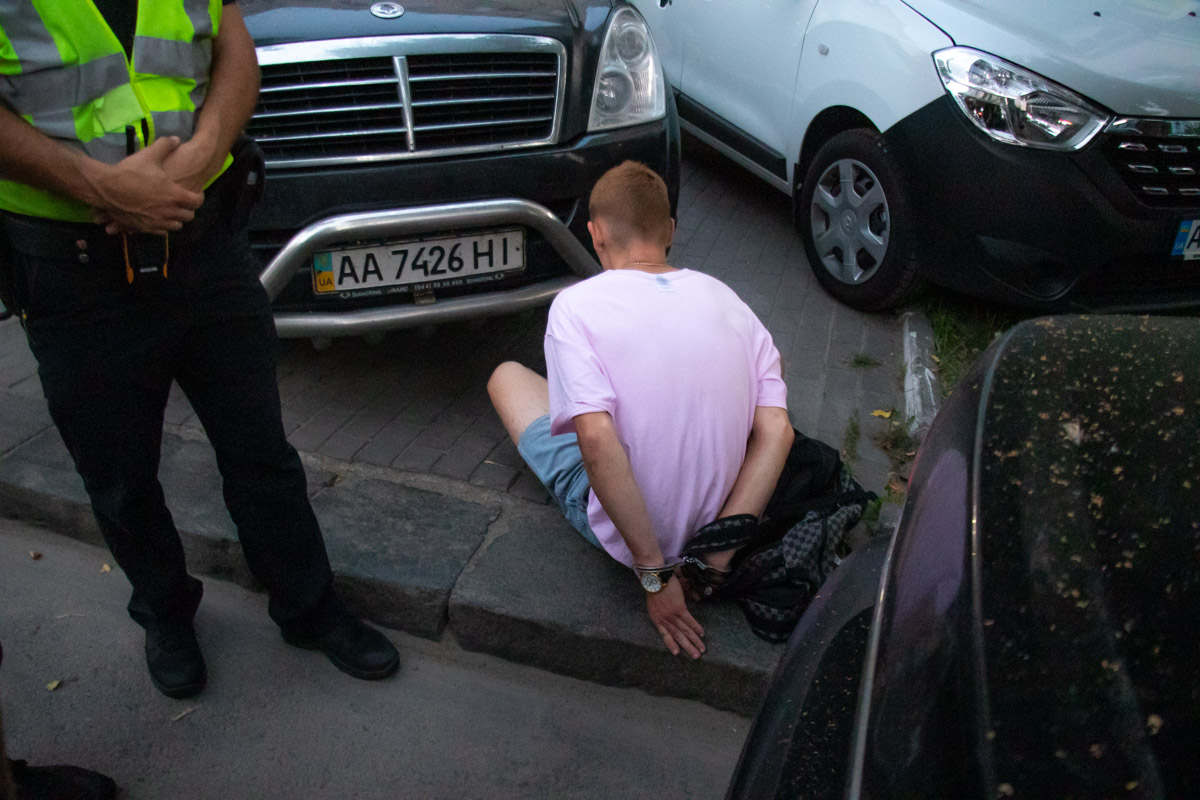 В центре Киева задержали молодого парня