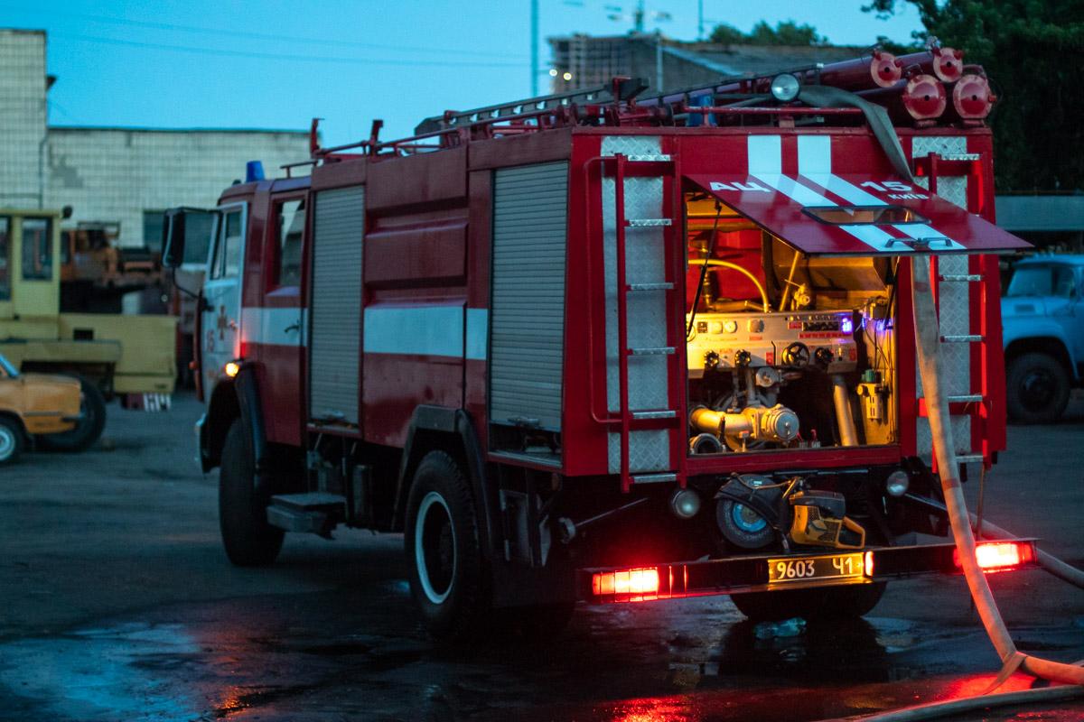 На месте работали спасатели 15-й пожарной части