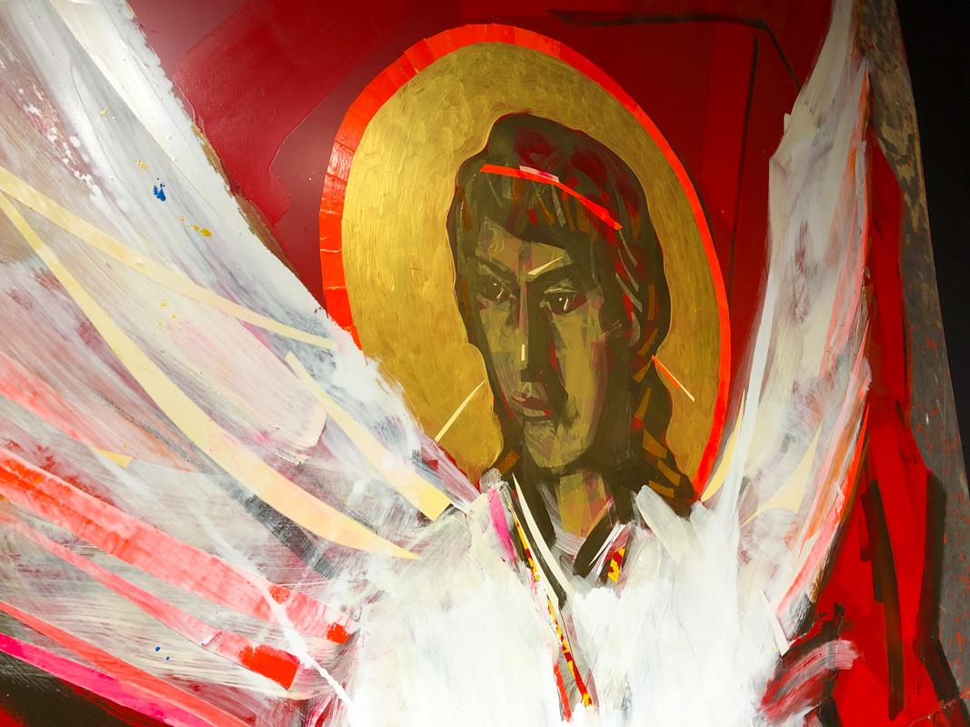 Все полотна объединяются в общий сюжет, который по завершению выставки перенесется и украсит храм Покрова Пресвятой Богородицы
