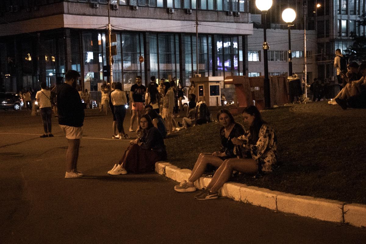 Вечеринка продолжилась на Спортивной площади