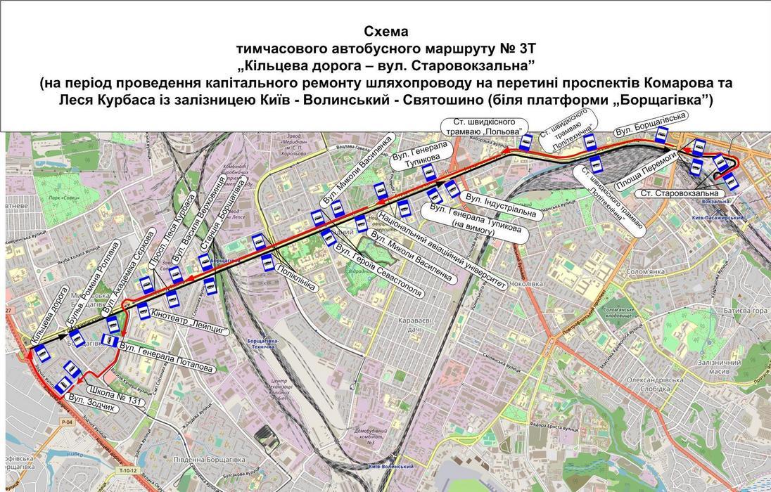 Схема движения автобуса №3