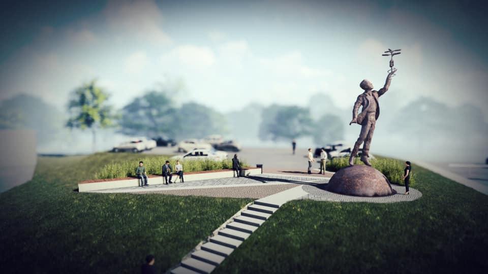 Памятник Игорю Сикорскому должен выглядеть примерно так