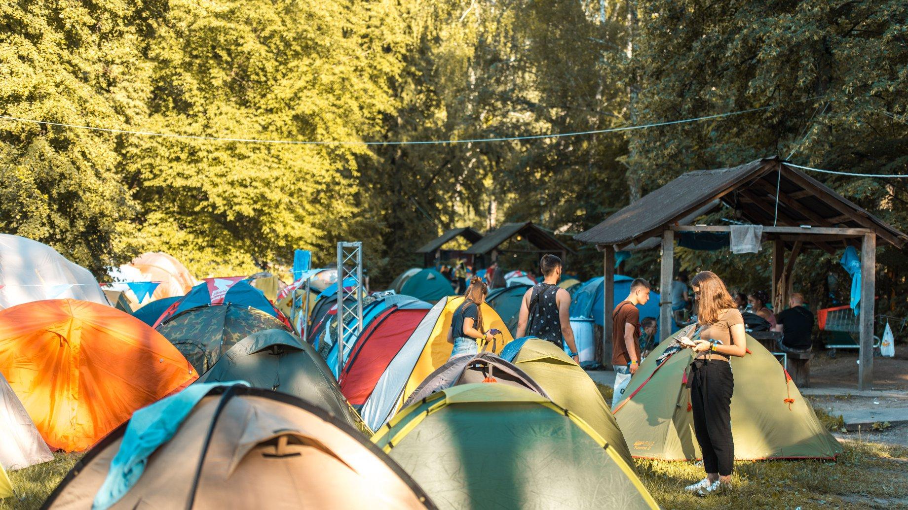Палаточный городок с круглосуточной охраной на Atlas Weekend