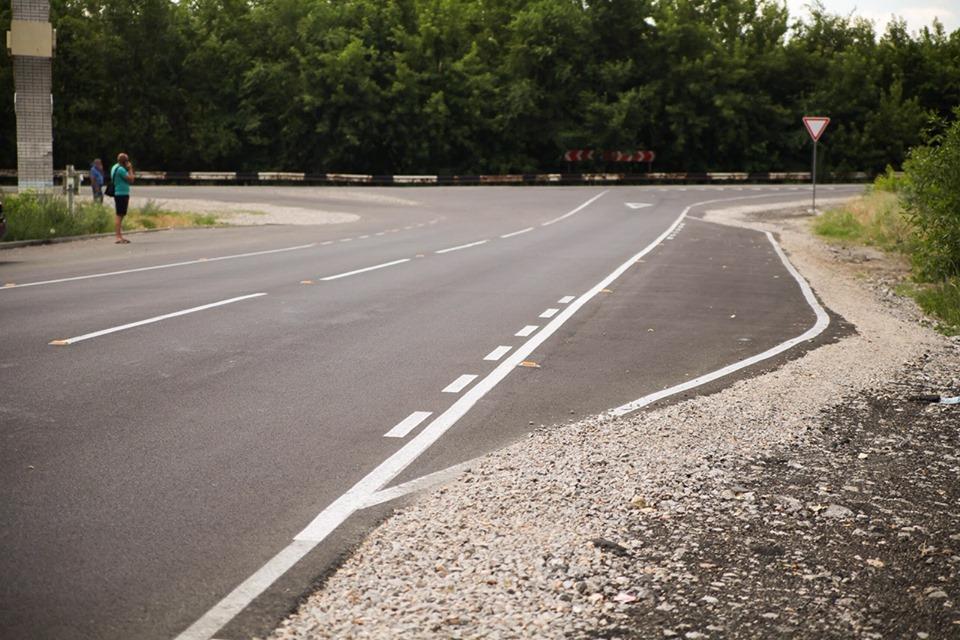 Дорога Вольное - Гвардейское. Одна из дорог, переданная Днепропетровской ОГА в прошлом году от Укравтодора