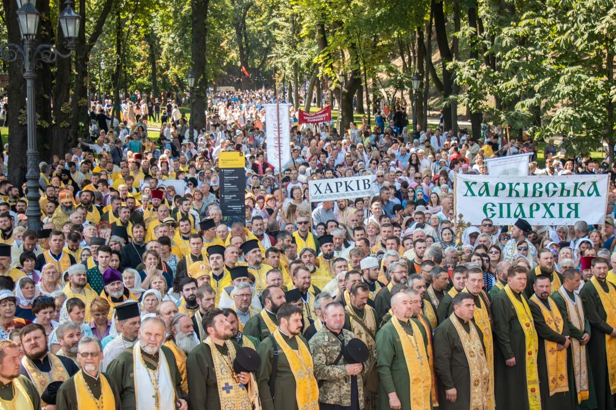 Крестный ход ПЦУ начался около 8:30 с Божественной литургии