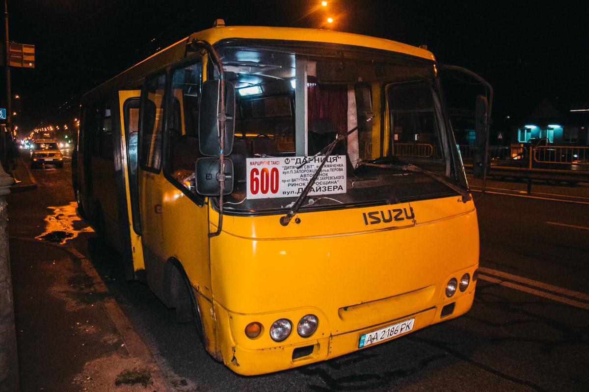 Авария случилась на полосе общественного транспорта