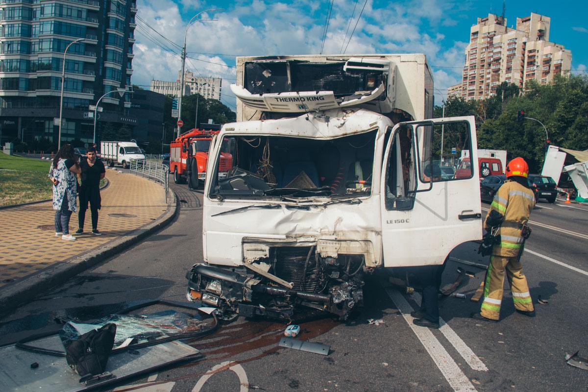 По предварительной информации, у грузовика MAN отказали тормоза