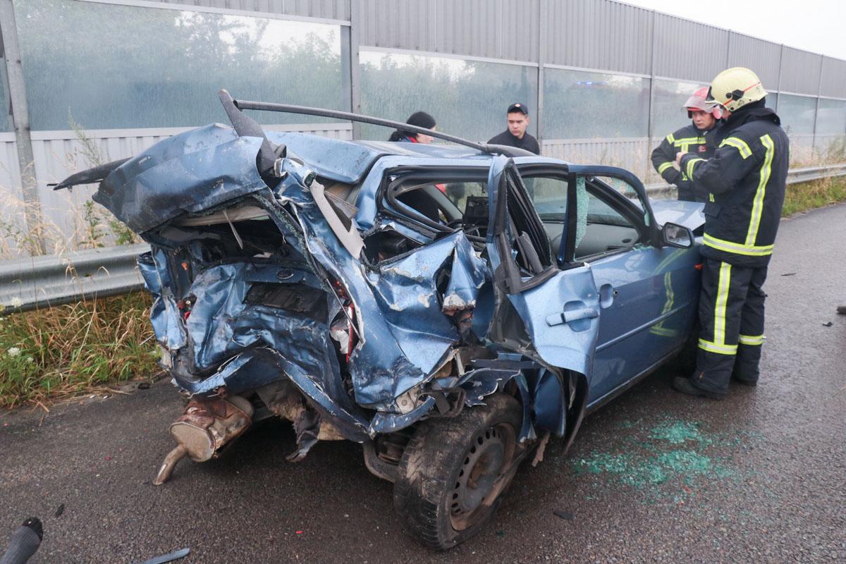 Авто практически полностью уничтожено