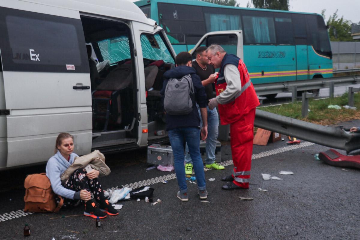 Пассажиры маршрутки, к счастью, остались живы