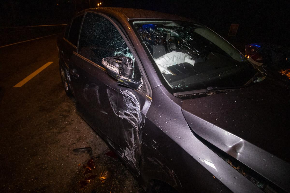 Volkswagen зацепил автобус и влетел в ДТП из двух Hyundai