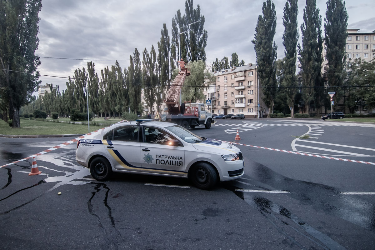 В Киеве на бульваре Академика Вернадского произошло ДТП
